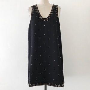 FREE PROPLE | Black Studded Mini LBD Dress